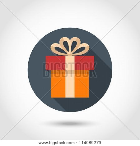 Gift box flat icon