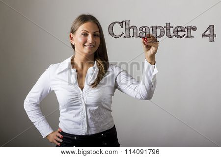 Chapter 4 - Beautiful Girl Writing On Transparent Surface