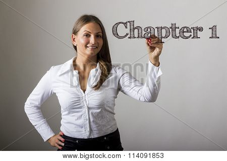 Chapter 1  - Beautiful Girl Writing On Transparent Surface