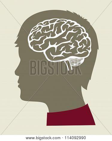 vector black Brain icon