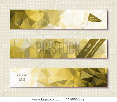 Design Template Banner With Polygonal Pattern