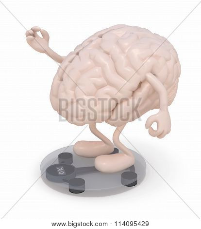 Human Brain With Arms And Legs Over Balance