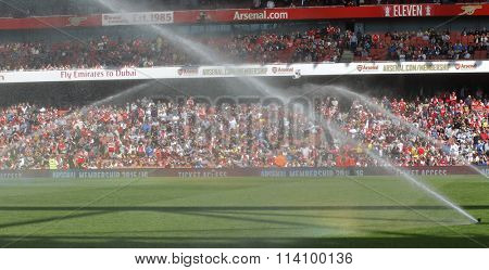LONDON, ENGLAND - JULY 25 2015:  The Emirates cup match between Arsenal v Olympique Lyonnais at The Emirates Stadium.
