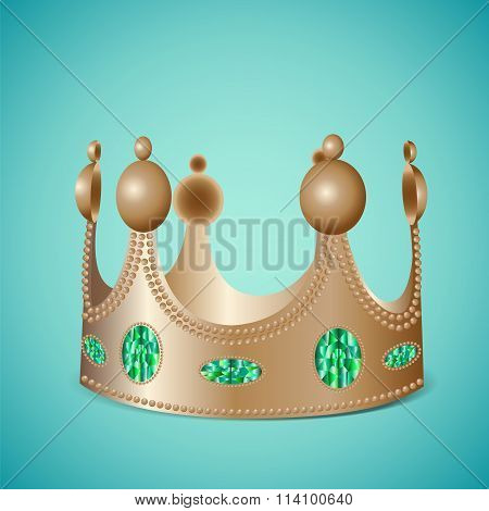 Bronze Crown With Gems