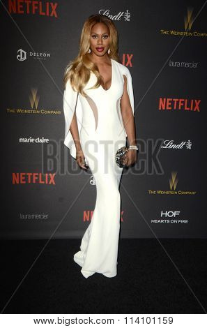 LOS ANGELES - JAN 10:  Laverne Cox at the Weinstein Company & Netflix 2016 Golden Globe After Party at the Beverly Hilton on January 10, 2016 in Beverly Hills, CA