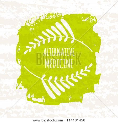 Creative Poster Colorful Green For The Logos Of The Shops That Sell Herbs And Alternative Health Her
