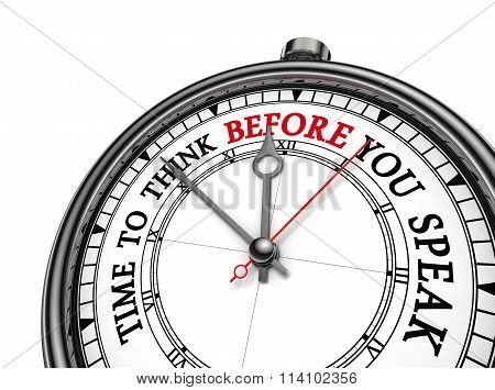 Think Before You Speak Conceptual Clock