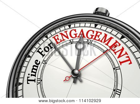 Time For Engagement Concept Clock