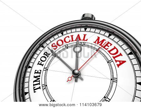 Time For Social Media Motivation On Concept Clock