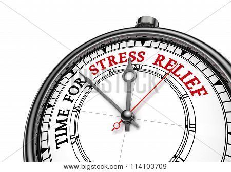 Time For Stress Relief Motivation Clock