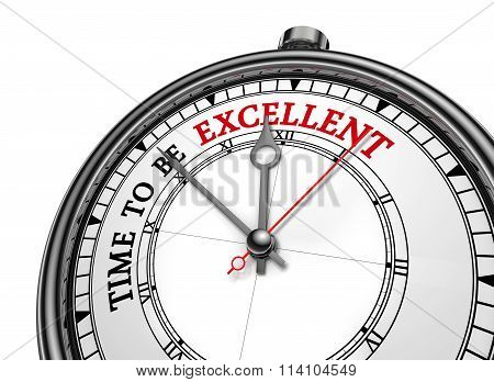 Time To Be Excellent Evaluate Yourself Message On Concept Clock