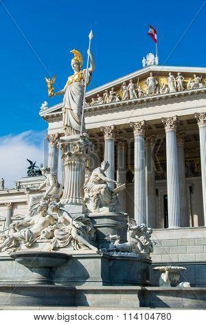 Vienna - OCTOBER 13: Austrian Parliament on October 13 in Vienna