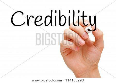 Credibility Black Marker