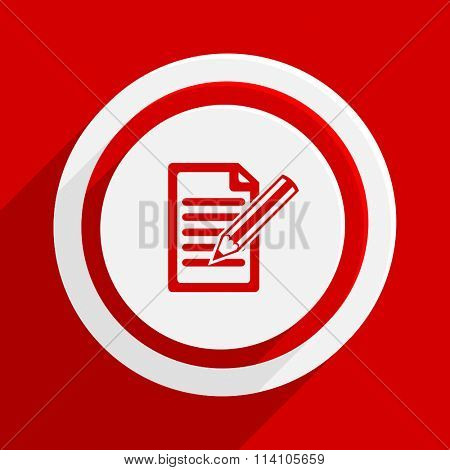 subscribe red flat design modern vector icon for web and mobile app