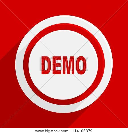 demo red flat design modern vector icon for web and mobile app