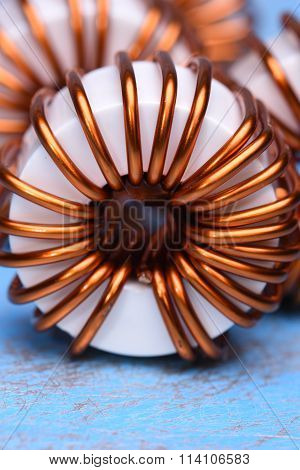 Macro of a copper coils