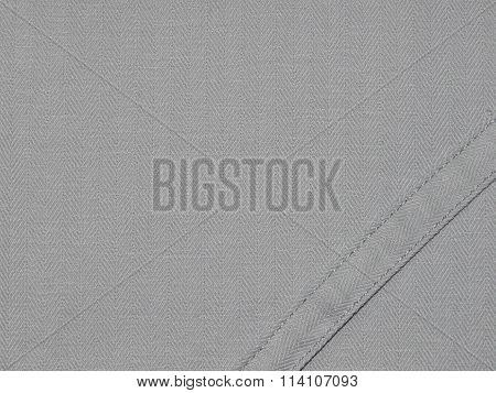 gray cloth with ribbon