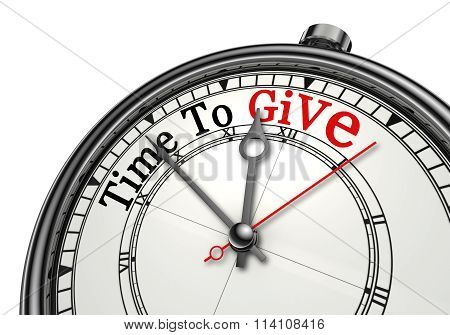 Be Open It Is Time To Give Concept Clock