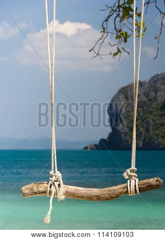 Serene Contemplation Tropical Scene