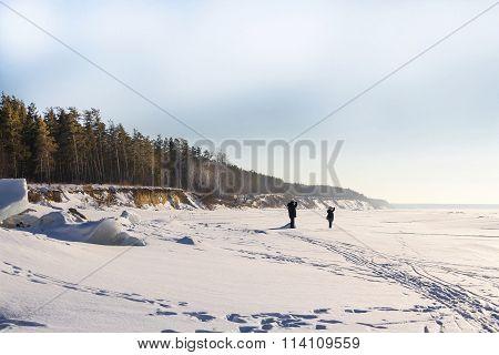 Coast Ob Reservoir In Winter