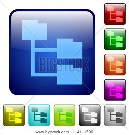 Color Folder Structure Square Buttons
