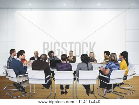 Business Meeting Conference Leader Brainstorming Concept