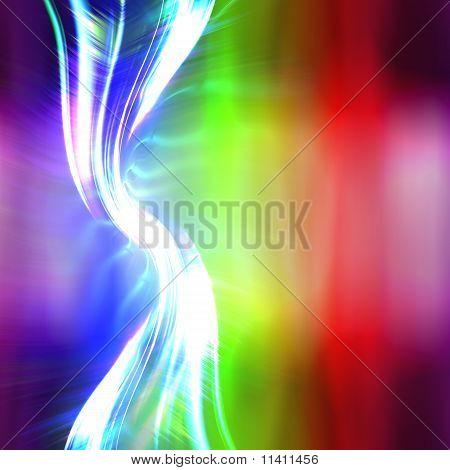 Rainbow Plasma Fractal Layout