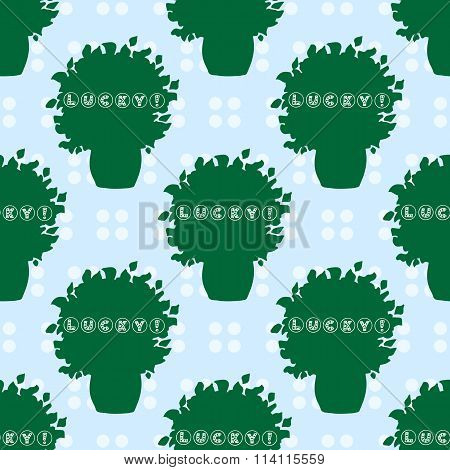 Hand-drawn Illustrations. This Is Your Lucky Day. Postcard St. Patrick. Seamless Pattern.