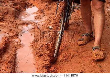 Cycling in mud