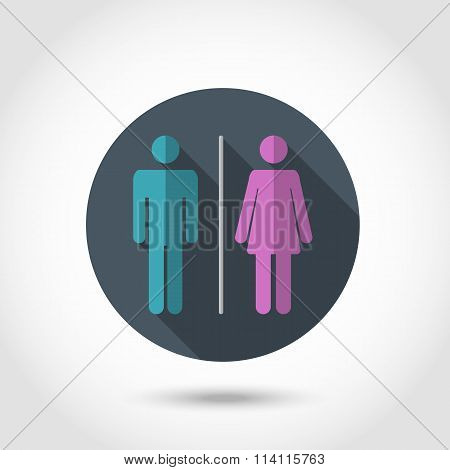 Male and female  flat icon