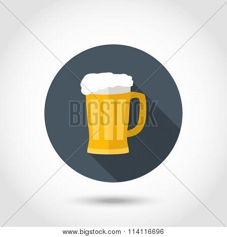 Foamy mug of beer