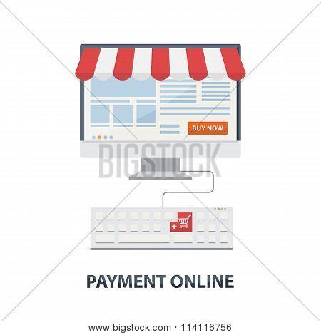 Payment online concept flat