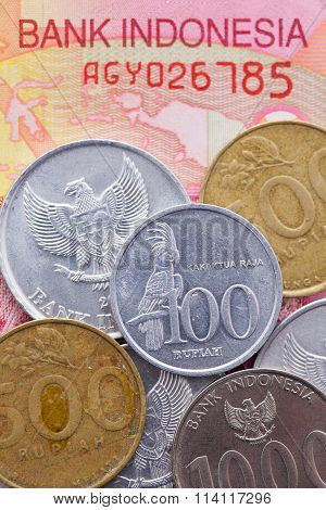 Banknote And Coins Of  Rupiah  Of Indonesia