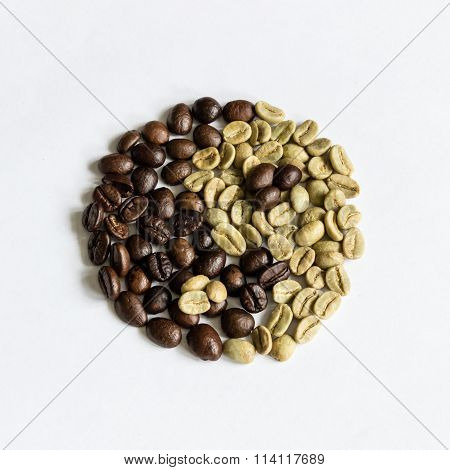 Yin And Yang Of Coffee Beans