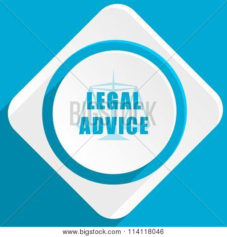legal advice blue flat design modern icon for web and mobile app