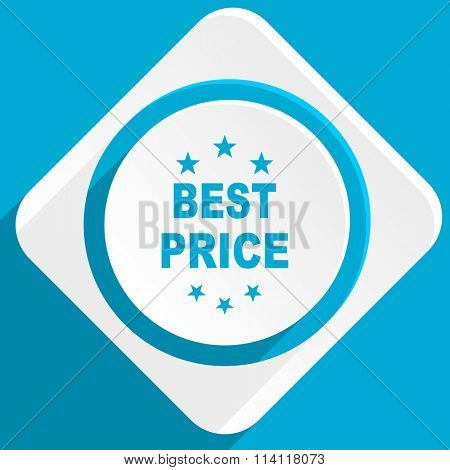 best price blue flat design modern icon for web and mobile app