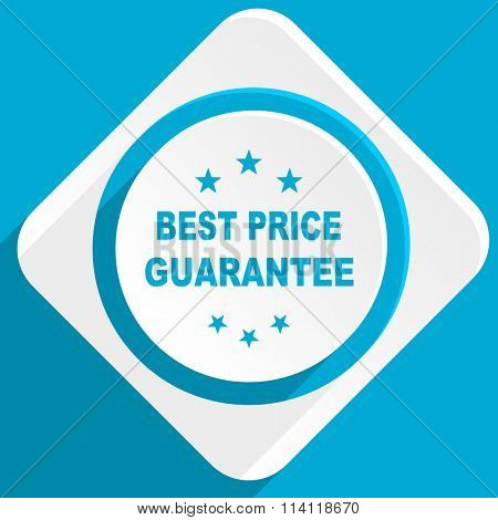 best price guarantee blue flat design modern icon for web and mobile app