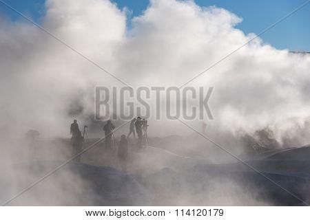 Photographers Shoot Fumaroles