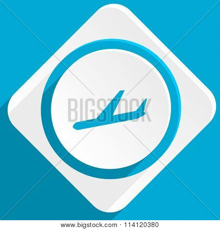 arrivals blue flat design modern icon for web and mobile app