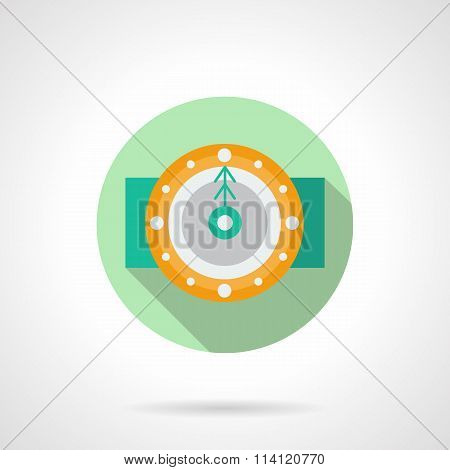 Round flat vector icon for holidays time