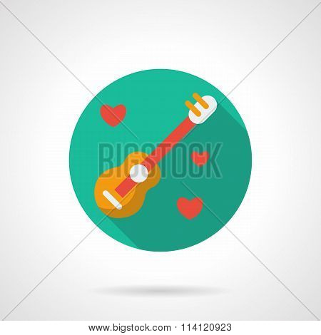 Song about love round flat style vector icon