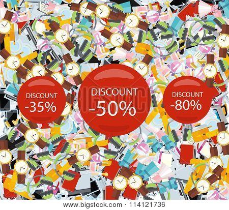 Pattern Consumerism Sale Sticker and Item