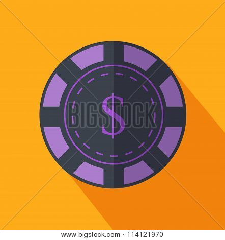 Chip Flat Design on Background