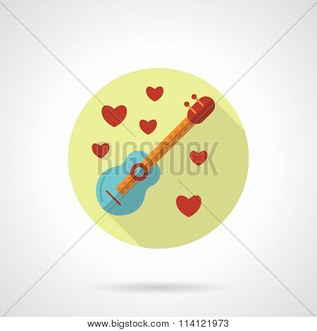 Love melody vector icon flat style