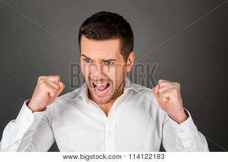 Handsome Depressed Man In Rage