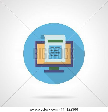 Web newsletter flat round vector icon