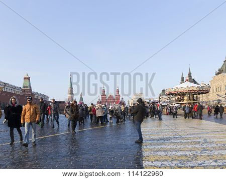Moscow Red Square, And Many People