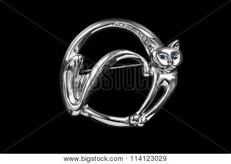 Cat Shaped Brooch