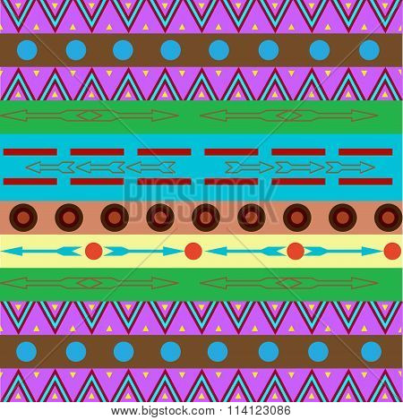 Tribal Ethnic Seamless Pattern. It Can Be Used For Cloth, Bags, Notebooks, Cards, Envelopes, Pads, B