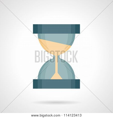Time flow flat color vector icon